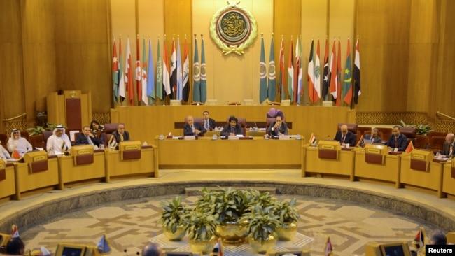 Các đại diện Liên đoàn Ả Rập gặp tại Cairo để thảo luận khả năng Mỹ dời đại sứ quán ở Israel tới Jerusalem, ngày 5/12/2017.