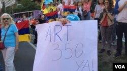 """""""La República Bolivariana de Venezuela es irrevocablemente libre"""", aseguran los opositores al gobernó Maduro."""