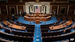 傳統上美國總統對參眾兩院議員發表國情咨文的國會眾議院大廳
