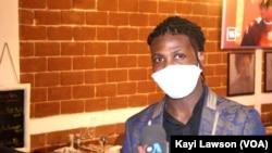 Johnny Dossavi, Gérant de Café Loft, Lomé, 1er août 2020. (VOA/Kayi Lawson)