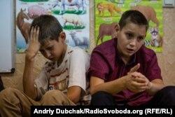 Діти в реабілітаційному центрі «Лелека», що у фронтовому місті Попасна