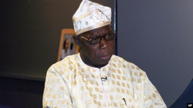 Former Nigerian President Olusegun Obasanjo at a recent interview in Washington, D.C.