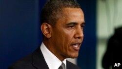Президент США Барак Обама. Белый дом. Вашингтон. 16 апреля 2013 г.
