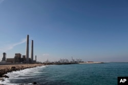 FILE - a photo shows a general view of the Eshkol power station, the first in Israel to produce electricity from natural gas, in the coastal city of Ashdod, southern Israel.