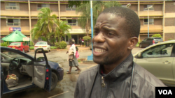 Prince Paul Butau of the Zimbabwe Hospital Doctors Association says doctors, on strike for three weeks, want their salaries paid in U.S. dollars. (C. Mavhunga/VOA)