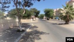 Uma rua da cidade do Namibe