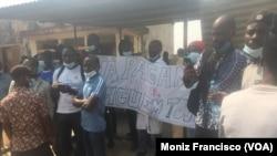 Professores manifestam-se no Uíge, Angola, 1 de Julho de 2021