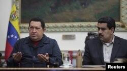 Уго Чавес и Николас Мадуро