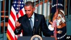 美国总统奥巴马在新泽西州的罗格斯大学发表讲话 (2015年11月2日)