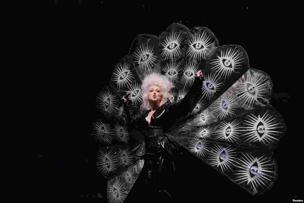 Cyndi Lauper performs during the WorldPride 2019 Opening Ceremony, a combined celebration marking the 50th anniversary of the 1969 Stonewall riots and WorldPride 2019 in New York, U.S., June 26, 2019.