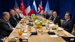 نشست وزیران امور خارجه پنج عضو دائم شورای امنیت سازمان ملل متحد در نیویورک - ۲۷ سپتامبر ۲۰۱۸