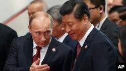 Predsednik Rusije Vladimir Putin i predsednik Kine Ši Đinping