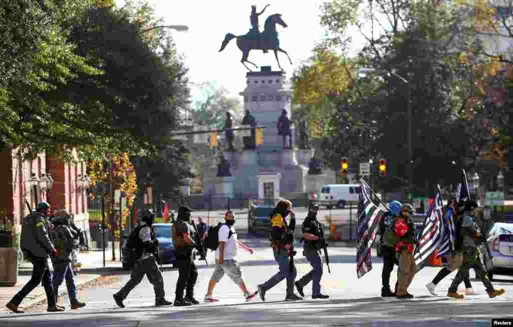 ABŞ - Virciniya ştatının Riçmond şəhərində silah tərəfdarlarının yürüşü
