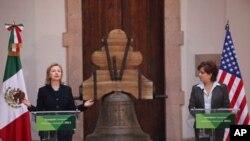 Sakatariyar harkokin wajen Amurka Hillary Clinton da takwaran aikinta na Mexico