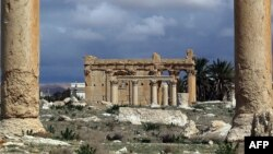 Kuil kuno Baal Shamin di kota Palmyra, Suriah yang dihancurkan oleh militan ISIS (foto: dok).