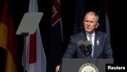 Bivši predsednik SAD Džordž Buš mlađi govori na komemoraciji za žrtve sa leta 93 u Pensilvaniji, 11. septembra 2021.