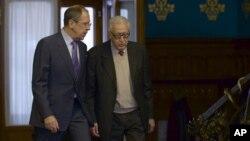 لخدر براہیمی اور روسی وزیر خارجہ ماسکو میں۔ 29 دسمیر 2012