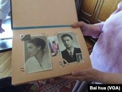 舒德洛夫妇刚结婚时的照片。