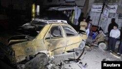 폭탄 테러가 발생한 시장 현장(자료사진)