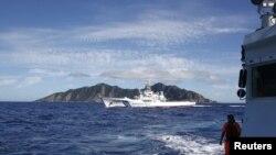 Lực lượng tuần duyên Nhật Bản tuần tra gần chuỗi đảo mà Nhật gọi là Senkaku và Trung Quốc gọi là Ðiếu Ngư Ðài