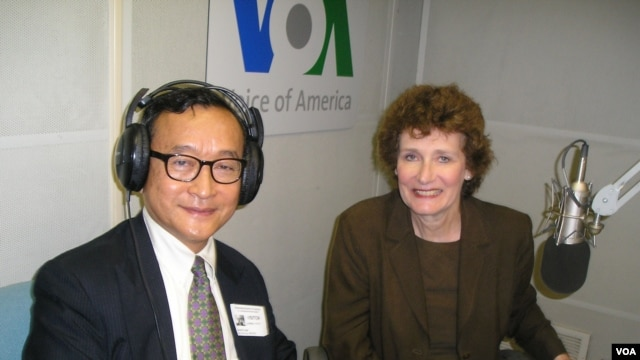 VOA's Sarah Williams speaks with Cambodian opposition leader Sam Rainsy, Oct. 17, 2013