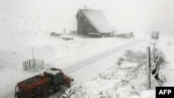 Ukrayna'da kış manzarası