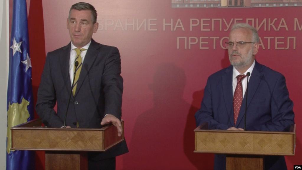 Kryetari i Kuvendit të Kosovës viziton Shkupin