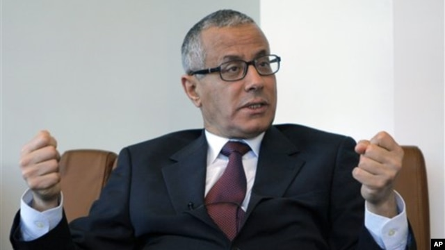FILE - Ali Zeidan in Paris, March, 21, 2011.