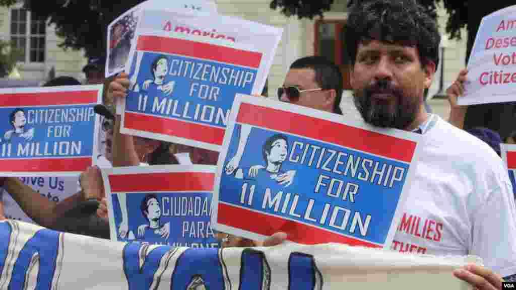 La marcha se realizó desde la estación de trenes de Union Station hasta el Capitolio.