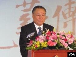 台灣國防部長嚴明(美國之音張永泰拍攝)