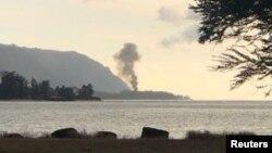 Mesto pada aviona na Havajima