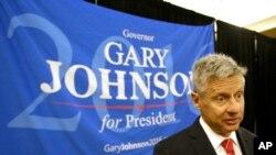 Capres Partai Libertarian AS Gary Johnson berbicara kepada para pendukung dan delegasi di Konvensi Nasional Partai Libertarian di Orlando, Florida. (Foto: dok.)