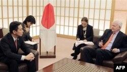 Japanski šef diplomatije i specijalni američki izaslanik za Severnu Koreju tokom susreta u Tokiju