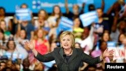 Hillary Clinton da magoya bayanta