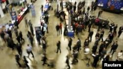 미국 워싱턴 DC에서 열린 취업 박람회. (자료사진)