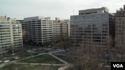 游说和咨询公司云集的华盛顿K街及附近的写字楼群(资料照)