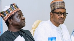 Gwamnan Plato Simon Lalong da Shugaban Nigeria Muhammad Buhari