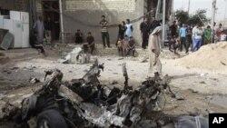 테러공격으로 파괴된 차량