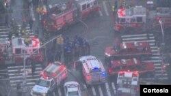 Caída de una grúa en Nueva York