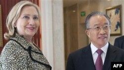 Hillari Klinton Çin rəsmisi ilə danışıqlar aparıb
