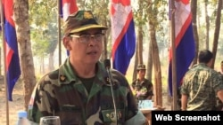 Major General Samrith Saret, the commander of Intervention Brigade 5, February 2016. (Courtesy of Facebook)