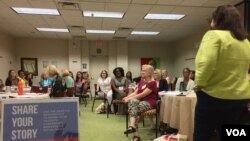 "Seventy-five women attended the September ""Women Can Run"" conference in Tallahassee, Florida. They could choose from workshops geared toward two types of campaigns: those who have announced for office and those still considering a candidacy. (C. Presutt"
