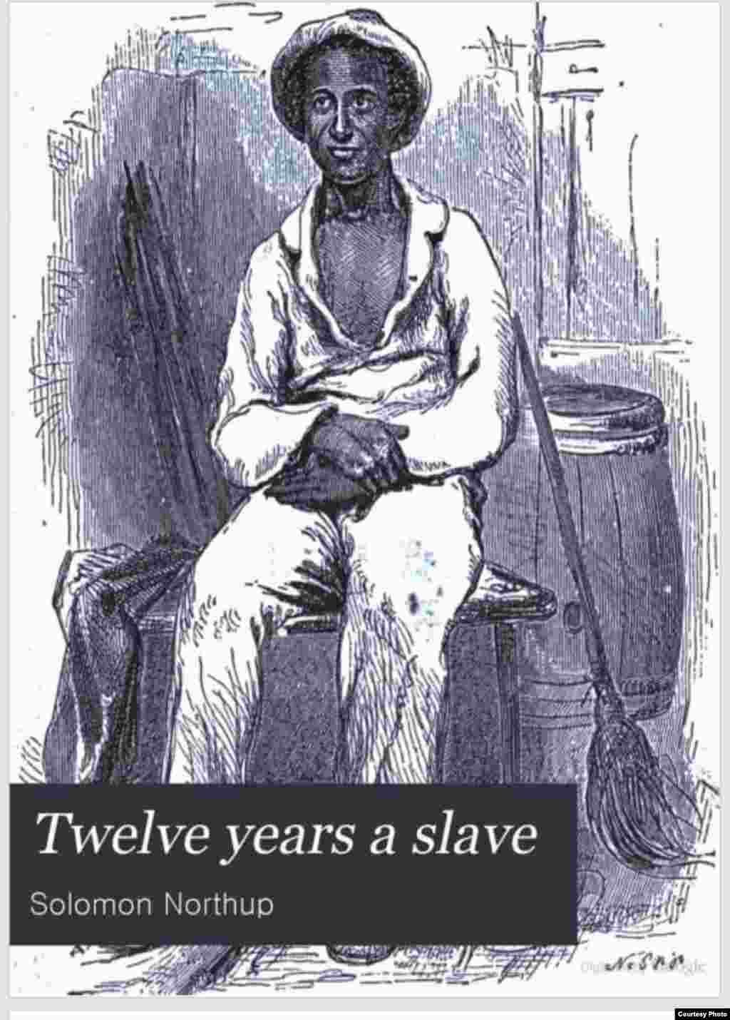 A woodblock print from the original 1853 publication of Twelve Years a Slave showing the author, Solomon Northup.