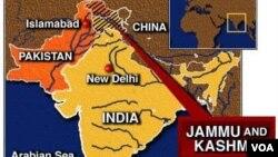Peta wilayah Kashmir.