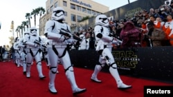 "Premiere de la nueva saga ""Star Wars: The Force Awakens"" en Hollywood."