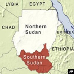 Map of Northern and Southern Sudan