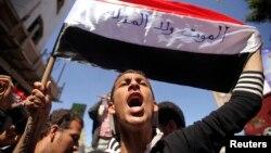 Dân Yemen xuống đường biểu tình chống phiến quân Houthi tại thành phố tây nam Taiz, ngày 9/2/2015.