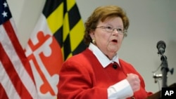 FILE - Sen. Barbara Mikulski, D-Md.