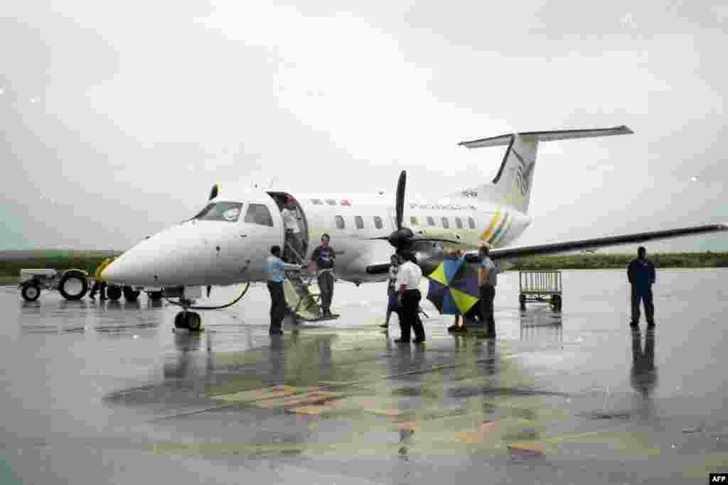 """самолет """"Бразилиа"""" - главный наблюдающий самолет экспедиции """"Миррентри"""""""