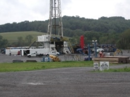 While the University of Texas report finds no evidence that fracking contaminates groundwater, this rig located next to a dairy concerns local residents.